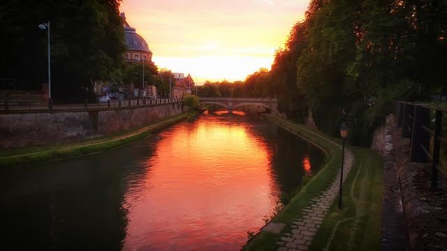 Το γραφικό Στρασβούργο της Γαλλίας - Ηλιοβασίλεμα