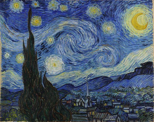Γνωστά έργα τέχνης και η ιστορία τους - Έναστρη Νύχτα